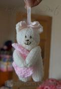 Knitting By Post Bear Pram Charm Toy Knitting Pattern DK