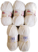 5 x Himalaya Dolphin Baby 80301WEISS Colour, Super Soft and Super Bulky Yarn 100 g Knit and Crochet