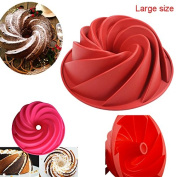 Silicone BUNDT Mould, Cake Tin, Jelly Mould, BUNDT Pan by Smartstore-Professional, Non Stick, Easy Release, FREE Pastry Brush