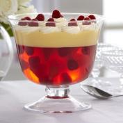 Transparent Glass Hand Crafted Serving Dessert Trifle Bowl 20cm | 3.5 litres