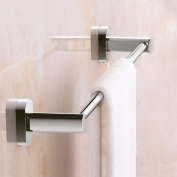 Hctina Towel Bar Towel Rack Rail Shelf Storage Holder Bathroom Kitchen Wall Mounted Copper Single,40cm
