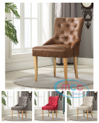 Linen Fabric Accent Chair Dining Chair For Home & Commercial Restaurants [Brown* Grey* Red* Cream*]