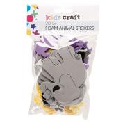 Kids' Art & Craft Stickers Foam Animals 20g