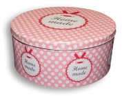 Krasilnikoff Metal Container with Lid Home Made, Pink