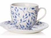 Sabichi Beatrice Bone China Tea Coffee Cup With Matching Saucer Dishwasher Safe