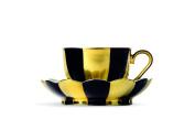 Augarten Mocha Cup, Black/Gold, 9.5 x 9.5 x 5 cm 2 Units