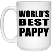 World's Best Pappy - 440ml Coffee Mug, Ceramic Cup, Best Gift for Birthday, Christmas, Thanksgiving, New Year, Anniversary