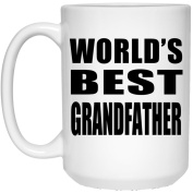 World's Best Grandfather - 440ml Coffee Mug, Ceramic Cup, Best Gift for Birthday, Christmas, Thanksgiving, New Year, Anniversary