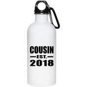Cousin Established EST. 2018 - Water Bottle, Stainless Steel Tumbler, Best Gift for Birthday, Christmas, Thanksgiving, New Year, Anniversary