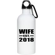 Wife Established EST. 2018 - Water Bottle, Stainless Steel Tumbler, Best Gift for Birthday, Christmas, Thanksgiving, New Year, Anniversary