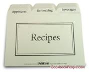 Labeleze 10.2cm by 15.2cm Recipe Card Divider Set