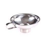 Ongwish Home Made Stainless Steel Jar Funnel with Handle Wide-Mouth Canning Funnel
