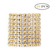 YiZYiF 10pcs/30pcs Napkin Rings Silver/Golden Decorations Christmas Ornaments Gold 10 Pcs