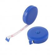 Plastic Shell Press Button Retractable Tape Measures Tool Blue 150cm Length 2pcs