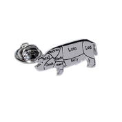 Butchers Cuts of Pork Pig Lapel Pin Bagde Gifts For Him