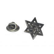Antique Style Star Of David Lapel Pin Badge Shirt Collar Brooch