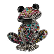 Sticks Jewellery Cute Animal Insect Brooch Mixed Colour Rhinestone Wedding Brooch Female Frog Fashion Jewellery Good Gift