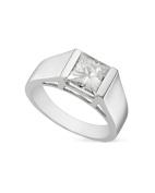 Charles & Colvard Forever Classic Square 7.0mm Moissanite Engagement Ring-size 10