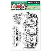 Penny Black Purr-fectly Sweet Clear Unmounted Rubber Stamp Set