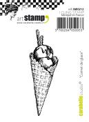 Carabelle Studio Cling Stamp Small 7cm X.230cm -Ice Cream Cone