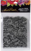 Stampendous Laurel Burch Cling Stamp 20cm x 11cm - Whiskers