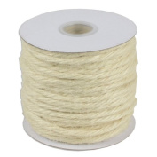 KRAFTZ ® - 50 Metres Jute Bakers Twine Roll Rope Natural Cord for Art & Craft Gift Packing Decoration - White