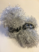 TWO BALLS King Cole Sparkly Silver Tinsel Chunky Two Tone Knitting Yarn Festive Wool