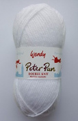 Peter Pan DOUBLE KNITTING DK Yarn/WoolG YARN - 50g 0300 Pure White