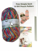 Opal 4ply Yarn Sock Knitting Kit - Wool, DPN's, Stitch Markers & Pattern Schafpate 7952 Thelma