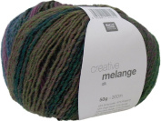 Rico Creative Melange, dark colour 05 – needle size 3.5 - 4 mm, purple/olive – wool with colour gradient for knitting and crocheting