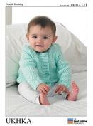 UKHKA Baby Cardigans Knitting Pattern No 131 DK - each
