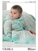 UKHKA Baby Cardigans, Hat & Blanket Knitting Pattern No 132 DK - each