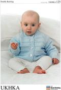 UKHKA Baby Cardigans Knitting Pattern No 125 DK - each