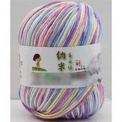 HuaYang Mixed Colour Needlecraft Fibroin Wool Yarn Smooth Worsted Soft Silk Baby Wool Fibre(1Pcs