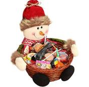 Fruit basket Christmas Candy Storage Keepwin Christmas Decoration Santa/Snowman/Elk Basket Gift