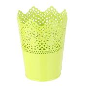 Himollthe Metthel Crown Flower Pot Lthece Hollowpot - Green
