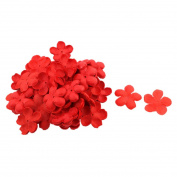 sourcingmap® Fabric Wedding Party Bridal Table Peach Blossom Flower Petal Decorations 200 PCS Red