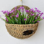 Plants Garden Flower Pots Planters Hanging Baskets Wall-mounted Wicker hanging baskets Plant Fibre Hand-woven Planting basket