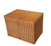 Handmade baskets Rattan bamboo storage box under the bed at the end of clothing storage box large box cover finishing box storage box