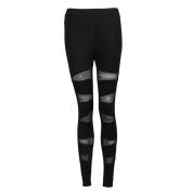 Kolylong Women's Mesh Panels Stretchy Workout Sports Gym Leggings Yoga Pants