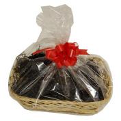 Small Black Wicker Christmas Hamper Gift Wrap DIY Kit Shredded Paper Ribbon Bow 250mm x 200mm x 50mm