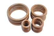 Proops Macrame Rings 38 50 76 101 mm 5 of each total of 50cm pack. (S7330) Free UK Postage