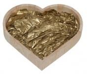 Small Mothers Day Gift Box Heart Hamper Wrapping Gold Tissue Paper Filling