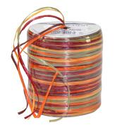 Prasent 50 m Rayon Raffia Spool Ribbon, Beige/ Multi-Colour