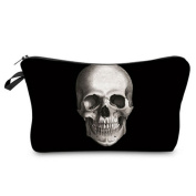 ODN Women Lady Travel Cosmetic makeup bag toiletry beauty case skull pencil case