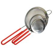 Food Strainer, outgeek 3Pcs Kitchen Strainer Fine Mesh Stainless Steel Strainer Pasta Strainer