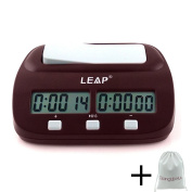 Chess Clock Professional, Timer Multifunctional Digital Display, Timing Analogue Electronic Children Chinese / International Chess I-GO Competition, for Count Up Down Board Master Player Game with Bag