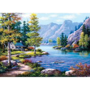 "Heidi Heidi4718 ""Lakeside Lodge"" Art Puzzle"