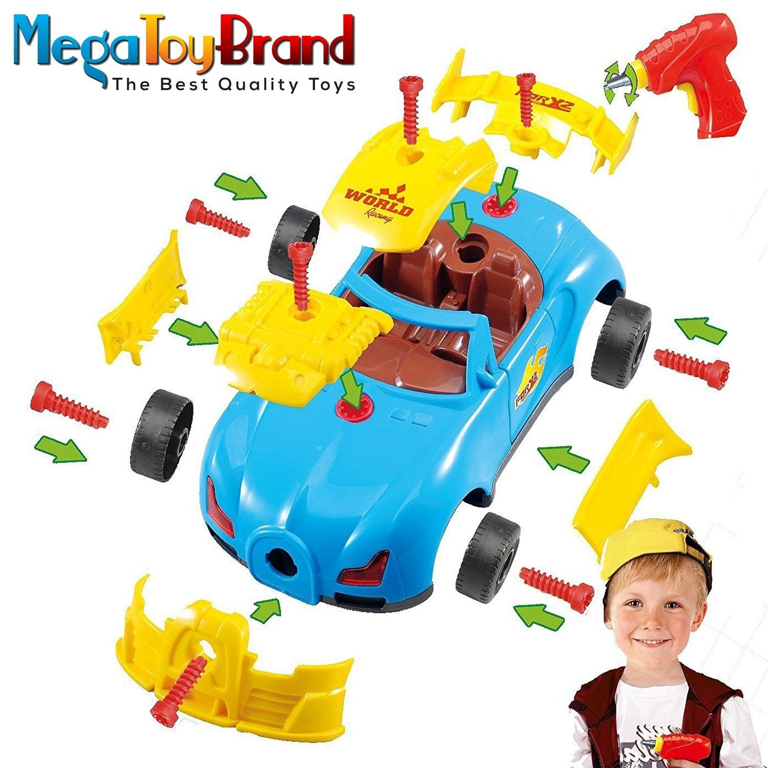 e365a06805c3 Megatoybrand Take Apart Toy Racing Car – Construction Toy Kit For ...