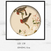 Met Love Classical Red Magpie Pattern LED Mural Lights Living Room Wall Decoration Murals Ultra-thin Bedroom Bedside Lamp Corridor Aisle Wall Lamp
